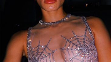 Brazen Babe Adwoa Aboah Shows Tits in a Transparent Garb 30
